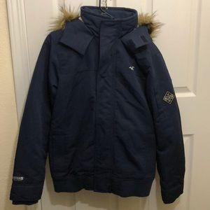 Hollister Sherpa lined bomber hoodie